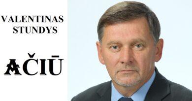 V.Stundys: dėkoju visiems, dalyvavusiems rinkimuose, pareiškusiems savo nuomonę