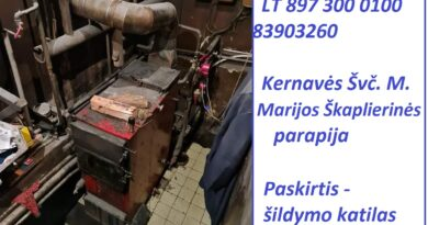 Kernavės Švč. M. Marijos Škaplierinės parapija prašo pagalbos