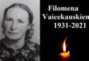 In memoriam Filomena Vaicekauskienė (1931-2021)