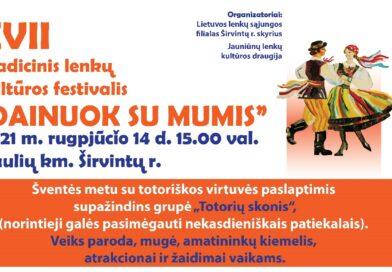 """Lenkų kultūros festivalis """"Dainuok su mumis"""" kviečia"""