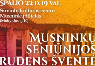 Kviečiame į rudens šventę Musninkuose
